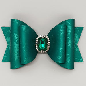 4.3 Inch Natalie Bow - Embossed Jade Princess