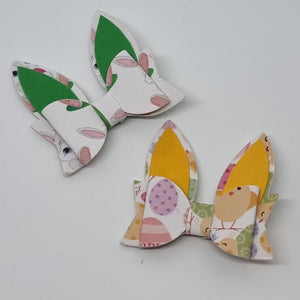 2.35 Inch Petite Bunny Ears Bow - Easter Prints