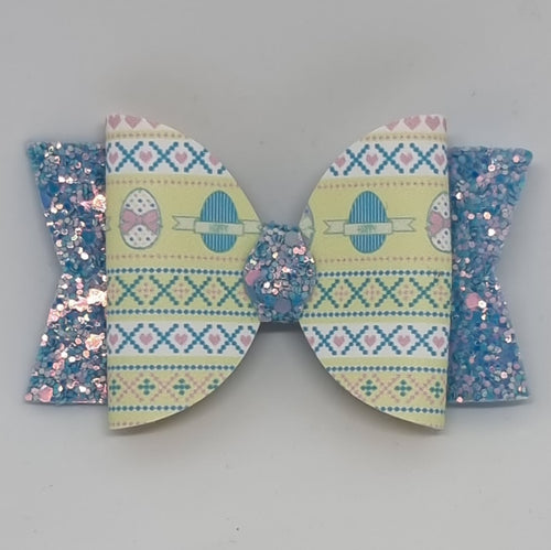 3.25 Inch Leatherette Bow - Easter Ugly Sweater