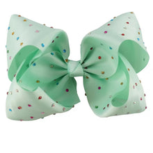 8 Inch Boutique Bow with Multi Colour Bling