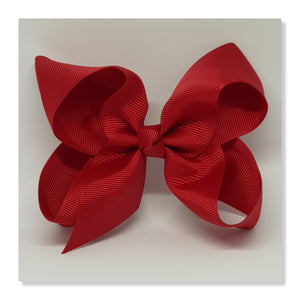 4 Inch Boutique Bow - Reds