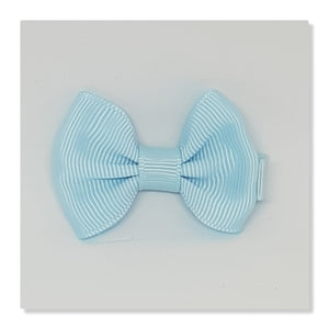2 Inch Tuxedo Hair Bows - Blues
