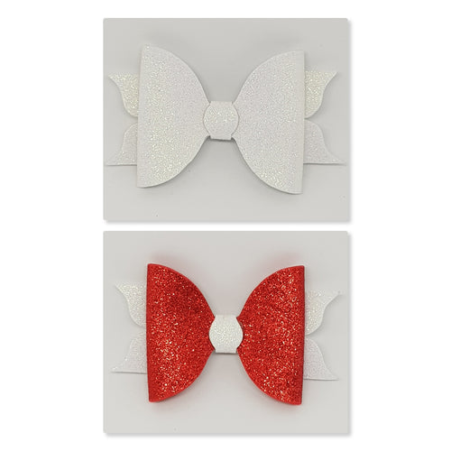 5 Inch Mackenzie Bow - Red & White