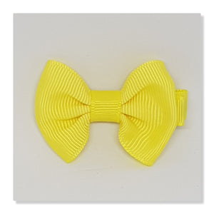 2 Inch Tuxedo Hair Bows - Yellows