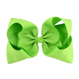 8 Inch Boutique Bow - Greens