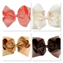 8 Inch Boutique Bow - Cream to Browns