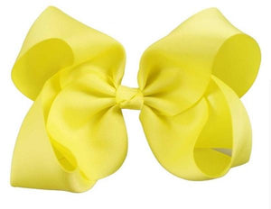8 Inch Boutique Bow - Yellows
