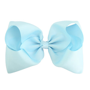 8 Inch Boutique Bow - Blues