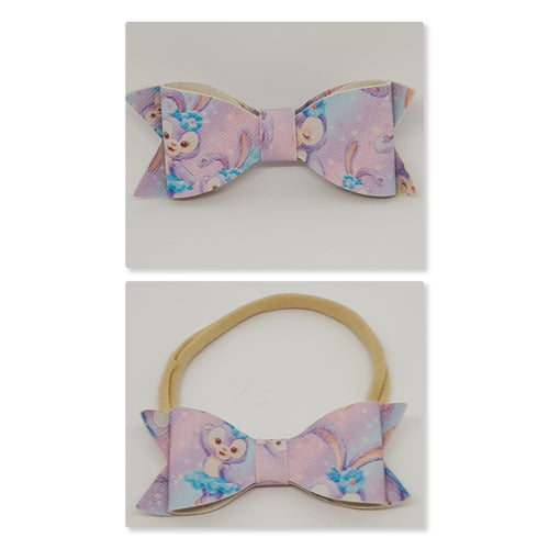2.75 Inch Ivy Faux Leather Bow - Ballerina Bunny