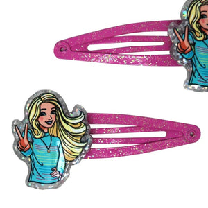 Barbie Snap Hair Clips