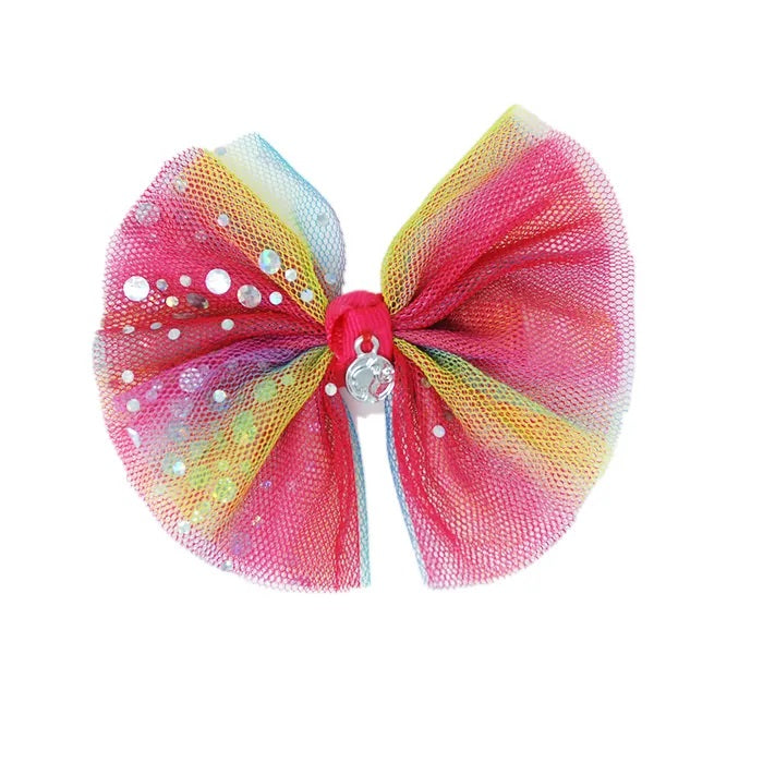 Barbie Rainbow Bow Hair Clip