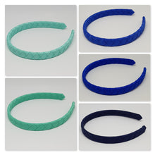 1/2 Inch Woven Headband - Blues