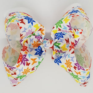 8 Inch Boutique Bow - Floral