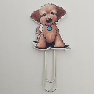 Planner Clip - Brown Fluffy Dog