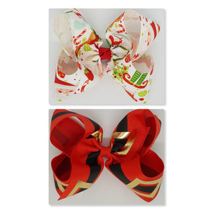 8 Inch Boutique Bow - Christmas