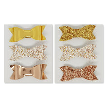2.75 Inch Ivy Bow Trio Set - A Sprinkle of Gold