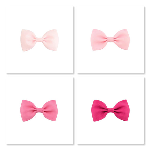 2.5 Inch Tuxedo Hair Bows - Pinks