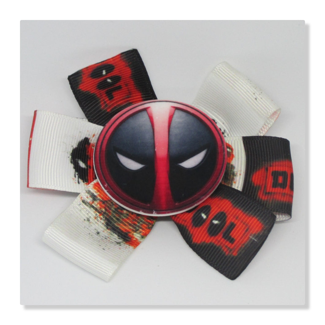 3.5 Inch Pinwheel Bow - Deadpool