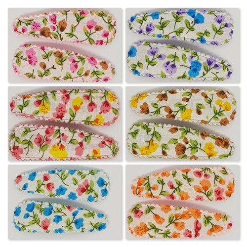 5 cm Snap Clip Sets of 2 - Floral
