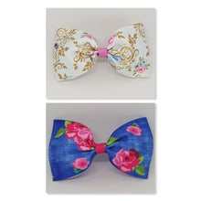 6 Inch Tailless Cheer Bow - Roses