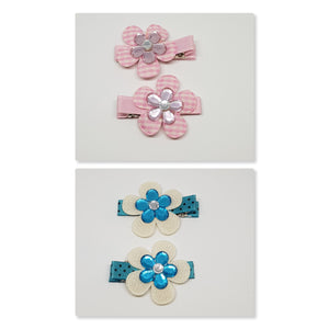 4.5 cm Non Slip Clips - Layered Flowers with Bling