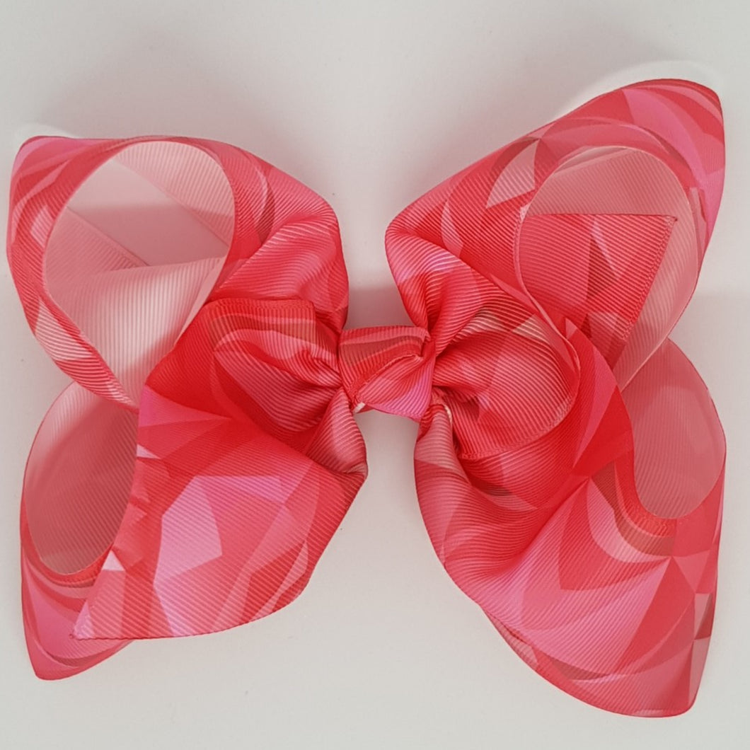 8 Inch Boutique Bow - Geometric