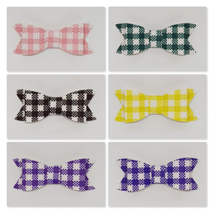 2.75 Inch Ivy Gingham Bows