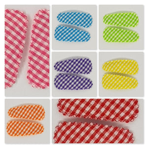 3 cm Snap Clip Sets of 2 - Gingham