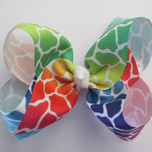 4 Inch Boutique Bow - Giraffe