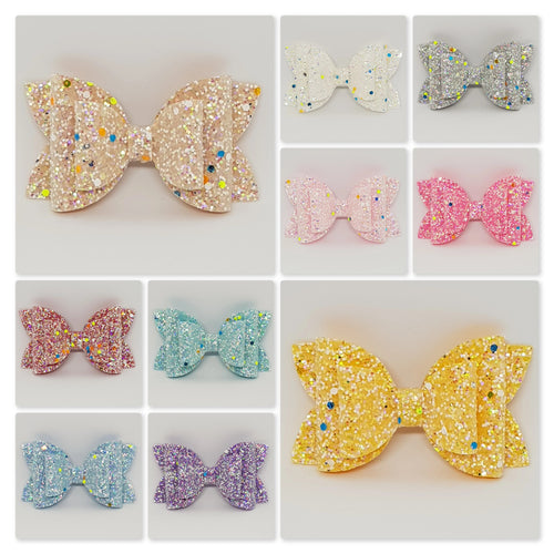 3.5 Inch Natalie Double Imogen Bow - Glow in the Dark