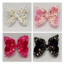 4 Inch Boutique Bow - Gold Foil Spots