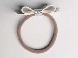 2.75 Inch Ivy Textured Faux Leather Bow - Nylon Hair Bands