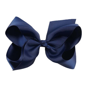 6 Inch Boutique Bow - Navy