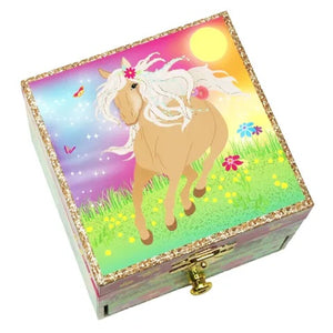 Horse Meadow Small Music Box