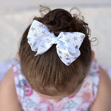 4 Inch Boutique Bow - Foil Stars