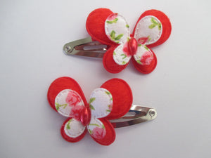 3 cm Snap Clips - Small Butterflies
