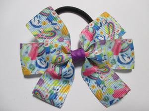 3.5 Inch Pinwheel Bow on Elastic - Adventure Time