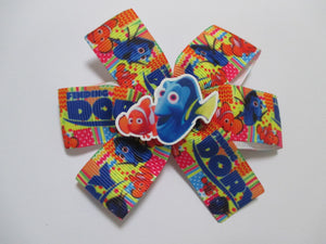 3.5 Inch Pinwheel Bow - Finding Dory