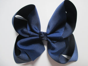 4 Inch Boutique Bow - Blues