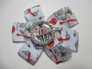 3.5 Inch Pinwheel Bow - 5 Seconds of Summer - 5SOS