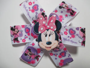 3.5 Inch Pinwheel Bow - Minnie Mouse