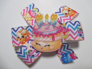 3.5 Inch Pinwheel Bow - Shopkins Birthday Wishes