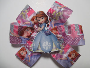 3.5 Inch Pinwheel Bow - Sophia the First
