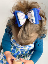 4.3 Inch Natalie Bow - Feathered Blossoms