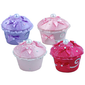 Princess Sparkle Cupcake Trinket Box