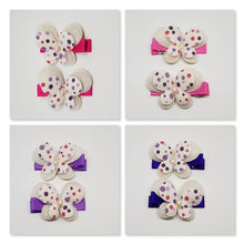 4.5 cm Non Slip Clips - Large Butterflies Pink & Purple Spots
