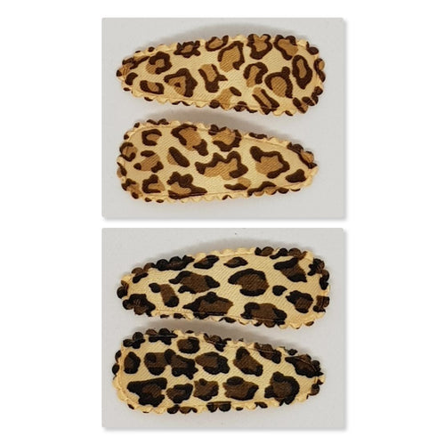 4 cm Snap Clip Sets of 2 - Leopard