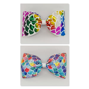 6 Inch Tailless Cheer Bow - Mermaid Scale