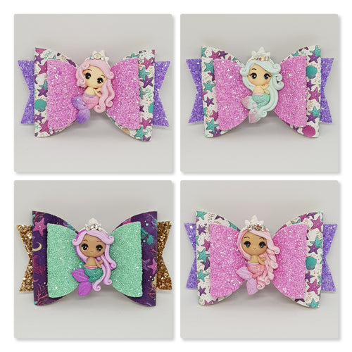 4.3 Inch Deluxe Natalie Bow - Mermaid Princesses