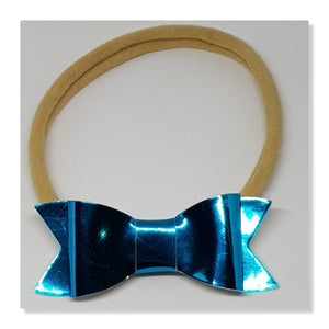 2.75 Inch Ivy Metallic Mirror Effect Faux Leather - Electric Blue